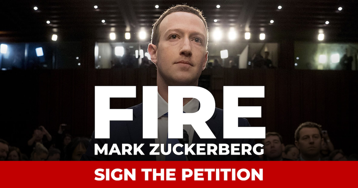 Fire Mark Zuckerberg